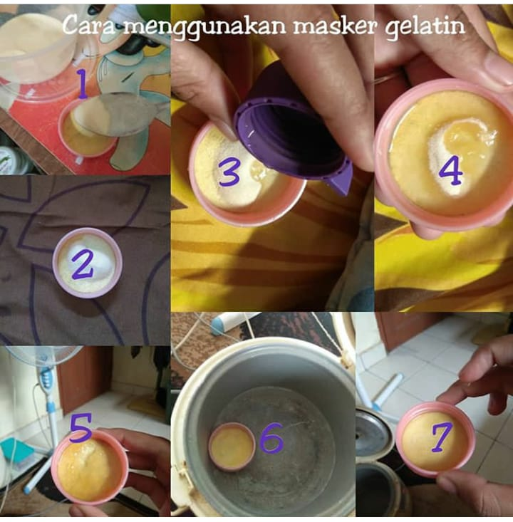 Cara Memakai Masker Gelatin Komedo Maskeruh