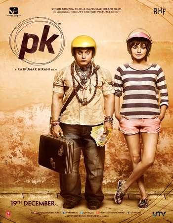 Poster Of PK 2014 Hindi 475MB BRRip 720p ESubs HEVC Watch Online Free Download Worldfree4u