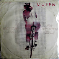 "Queen - ""Bicycle Race""/""Fat Bottomed Girls"" pierwotna okładka singla"