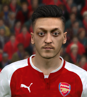 PES 2017 Faces Mesut Ozil by Ben Hossam FaceMaker