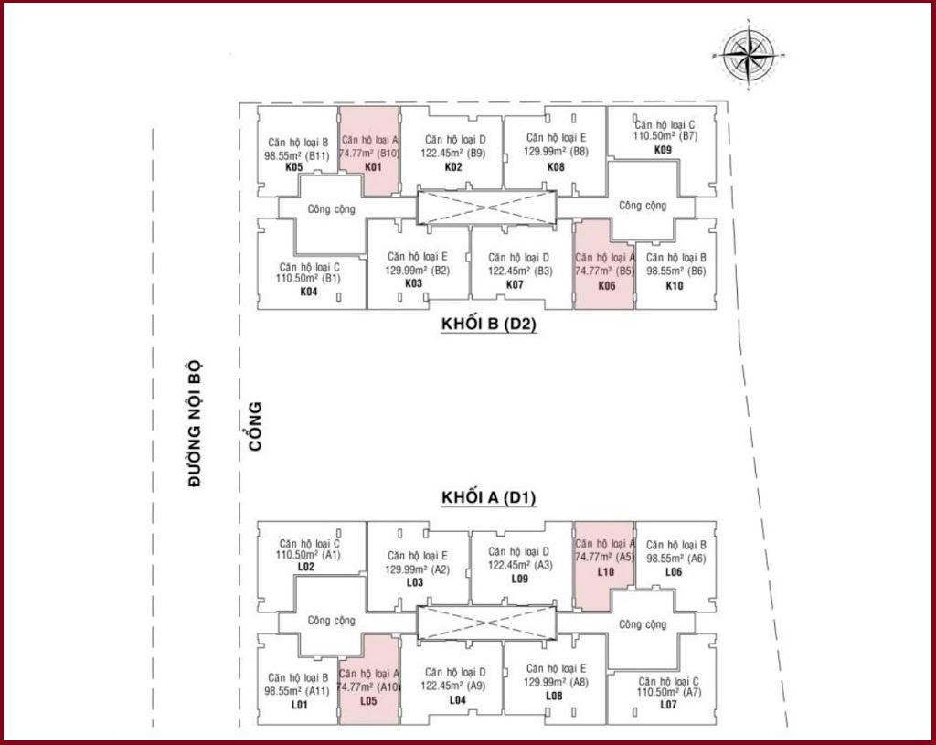 Mặt bằng tổng thể căn hộ DockLands Sài Gòn