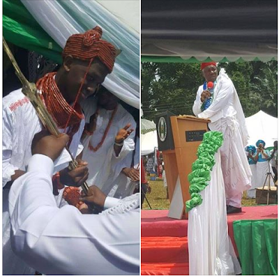 Nigeria's Youngest King, Obi Chukwuka Noah Officially Receives Staff Of Office. Photos