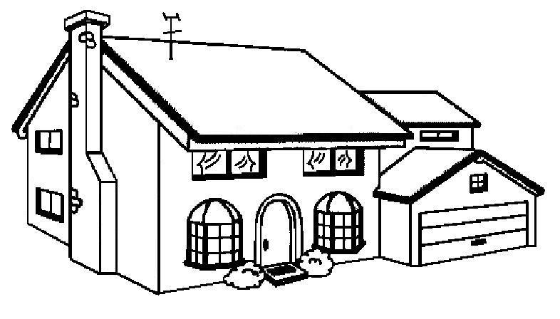Blog professor zezinho casas para colorir e imprimir for Fotos de casas modernas para imprimir