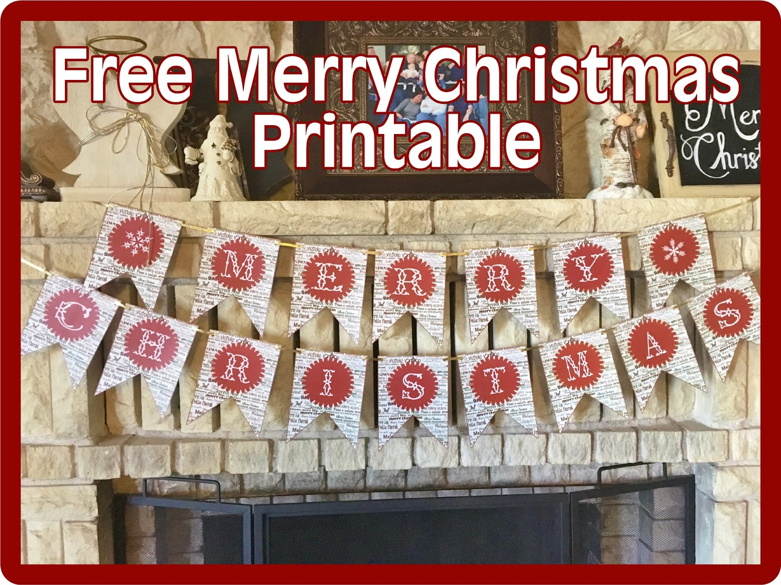 Hollyshome Family Life Free Merry Christmas Banner