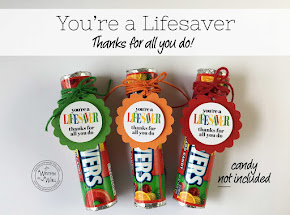 PRE-MADE TAGS You're a Lifesaver, Thanks for All You Do!
