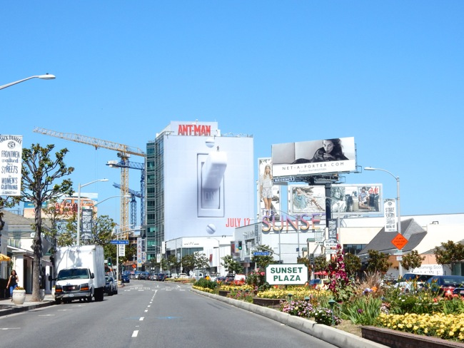 Giant AntMan light switch billboard