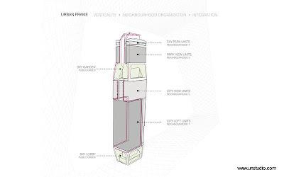 Dibujo técnico muestra secciones de la torre
