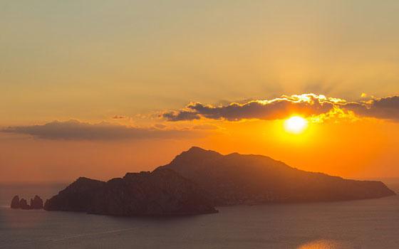 Capri bei Sonnenuntergang