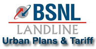 BSNL Landline Plans and Tariff Urban Areas