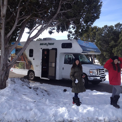motorhome no Grand Canyon