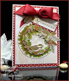 Stamps - Our Daily Bread Designs Apple Wreath, Chickadee Ornament, Wood Background,  Christmas Flourished Verses, Sing for Joy