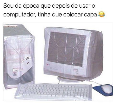 ... de Cobrir o computador com uma capa