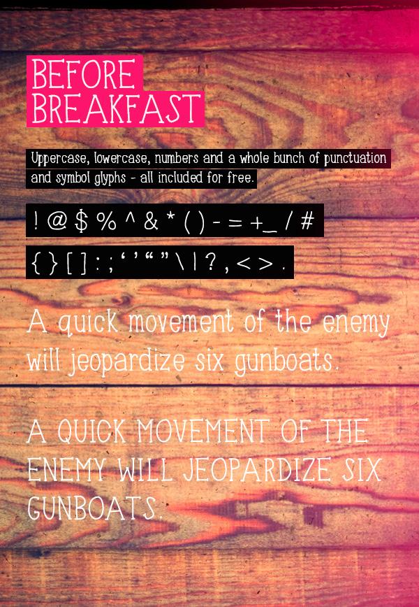 Download Font Handletter Tulisan Tangan Terbaik - Before Breakfast