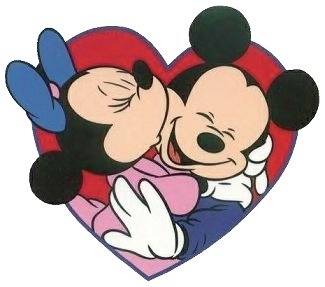 Cartoons Videos: Mickey & Minnie kissing full video