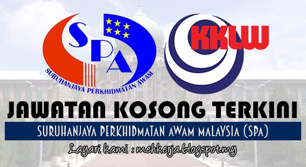 Jawatan Kosong Terkini 2017 di Suruhanjaya Perkhidmatan Awam Malaysia (SPA)