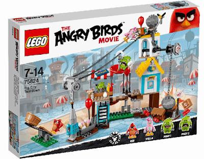 TOYS : JUGUETES - LEGO The Angry Birds Movie 75824 Demolición de Ciudad Cerdo   Pig City Teardown La Película - Movie   Piezas:   Edad: 7-14 años Comprar en Amazon España & buy Amazon USA