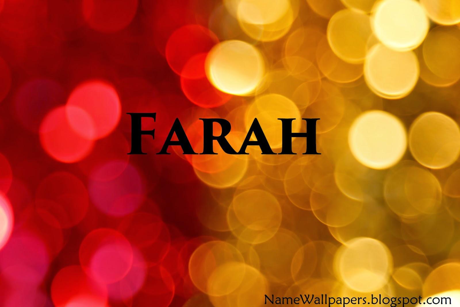 Farah Name Wallpapers Farah Name Wallpaper Urdu Name