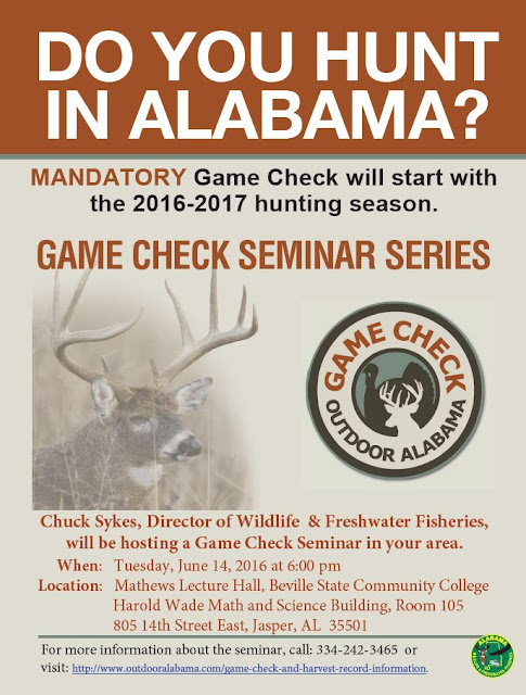 Game Check Seminar Flyer