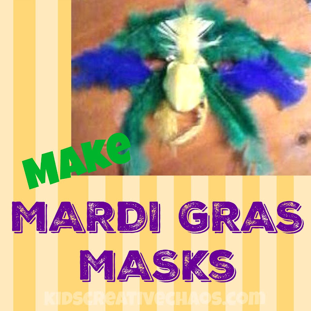 Make a Mardi Gras Mask Parrot Parakeet Feathers