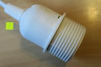 Fassung außen: kwmobile E27 Lampenfassung 3,5m Weiß - Netzkabel mit Schraubring Schalter - Lampenhalter und Kabel - Pendelleuchte - Lampenaufhängung - Hängeleuchte