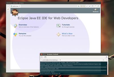 Ubuntu Make Eclipse Java EE IDE