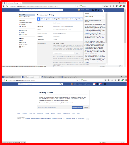 How to Delete a Facebook Account 2017
