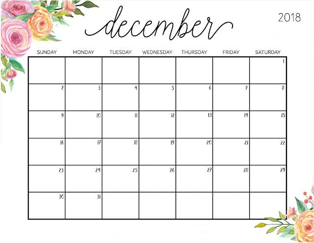 December 2018 Calendar  Portrait