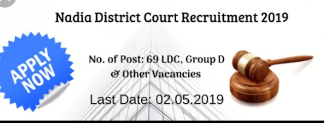 Nadia District Court Recruitment 2019