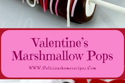 Valentine's Marshmallow Pops #valentine #dessert