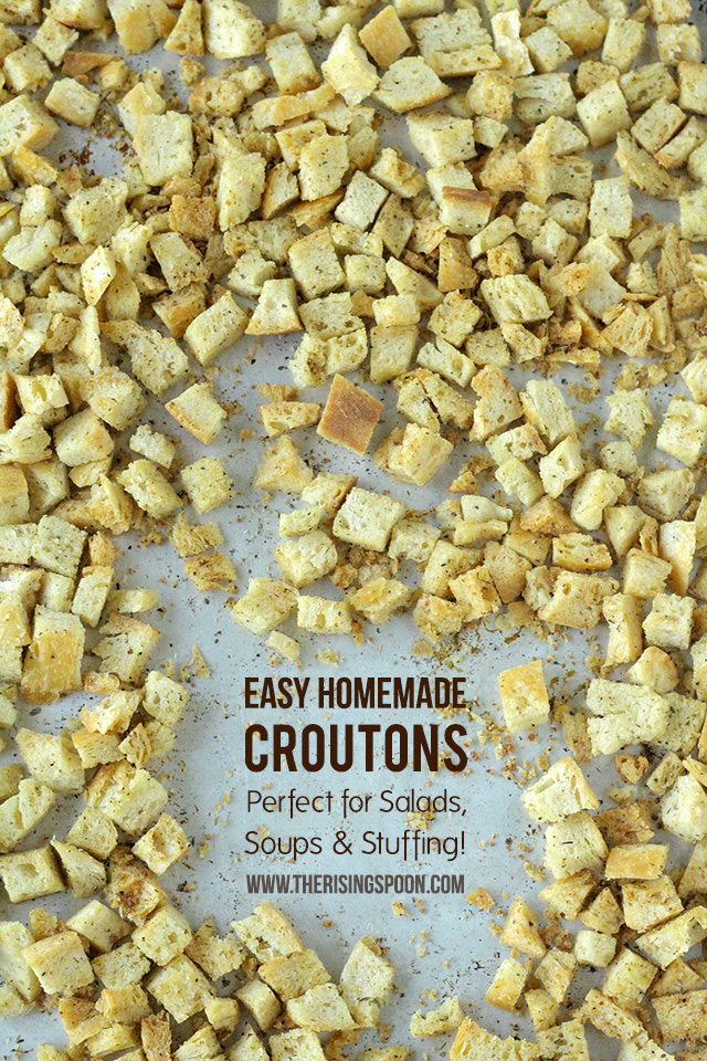Homemade Croutons Recipe (Perfect for Salads, Soups & Stuffing)