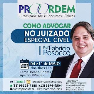Fabrício Posocco ensina como advogar no JEC