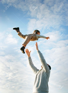 Papà e hijo volando