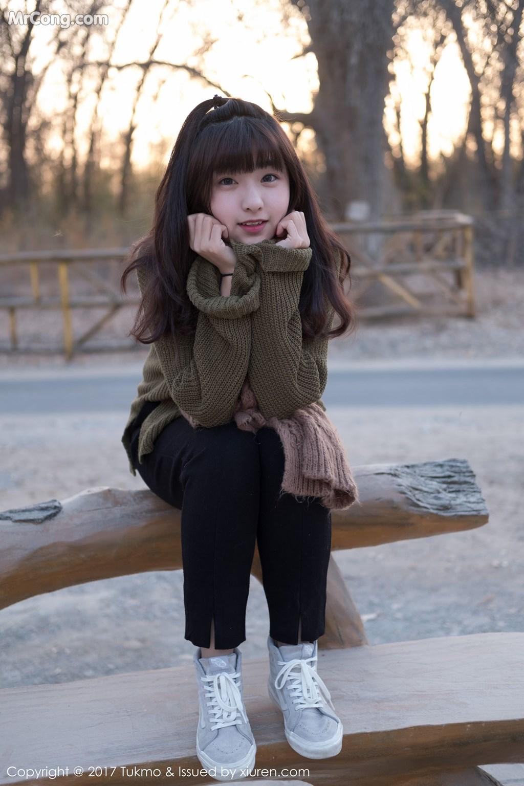 Image Tukmo-Vol.105-Qiu-Qiu-MrCong.com-008 in post Tukmo Vol.105: Người mẫu Qiu Qiu (球球) (41 ảnh)