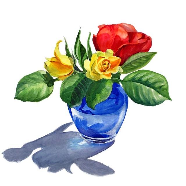 Цветы и цветочные натюрморты акварелью. Irina Sztukowski 3