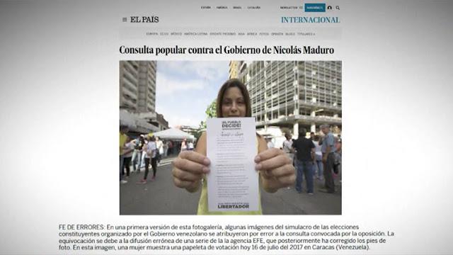 """""""El País"""" de España obligado a desmentir información sobre el plebiscito opositor de Venezuela"""