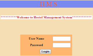 Online Hostel Management System Free Student Projects