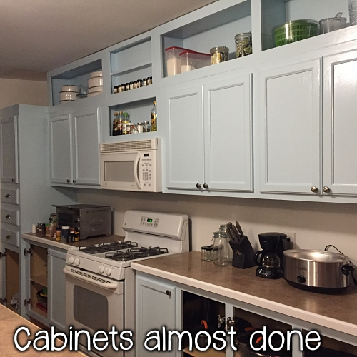 cabinets after painting