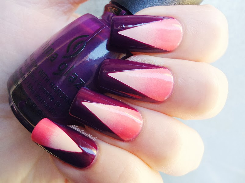 Pink and purple gradient chevron