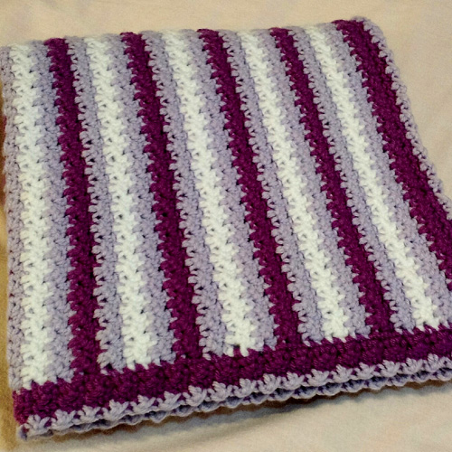 No Holes Baby Blanket - Free Pattern