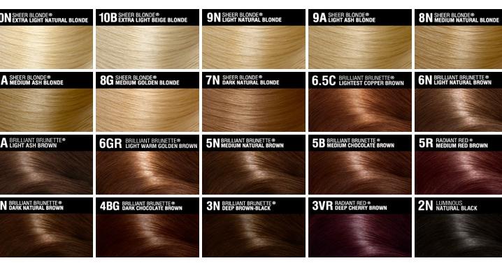 Red Hair Ed Brunette Red Hair Colour Chart Garnier