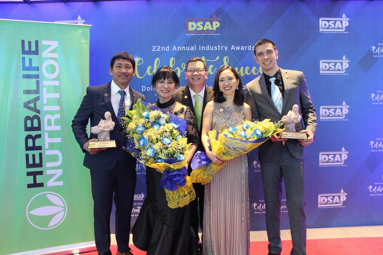 Herbalife Nutrition's Top Philippines Members Win Big at Direct Selling Association of the Philippines Industry Awards