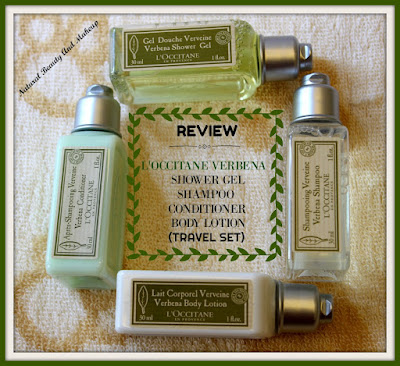L'Occitane Verbena Conditioner, Verbena Shower Gel, Verbena Shampoo, Verbena body Lotion Travel Set