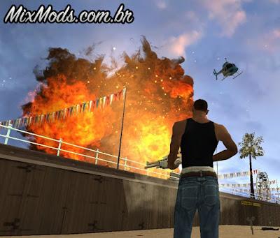 mod de melhores explosões gta sa