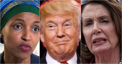 Trump critica a Pelosi y a Omar después de la controversia
