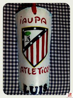 teja Atletico pintada a mano