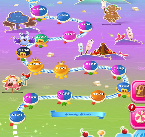 Candy Crush Saga level 5121-5135