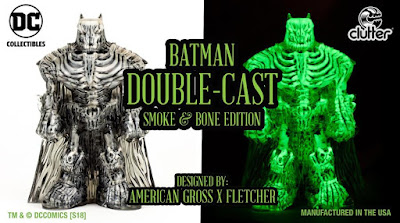 Five Points Festival 2018 Exclusive Batman Double-Cast Smoke & Bone Edition Resin Figure by DC Collectibles x Clutter Studios
