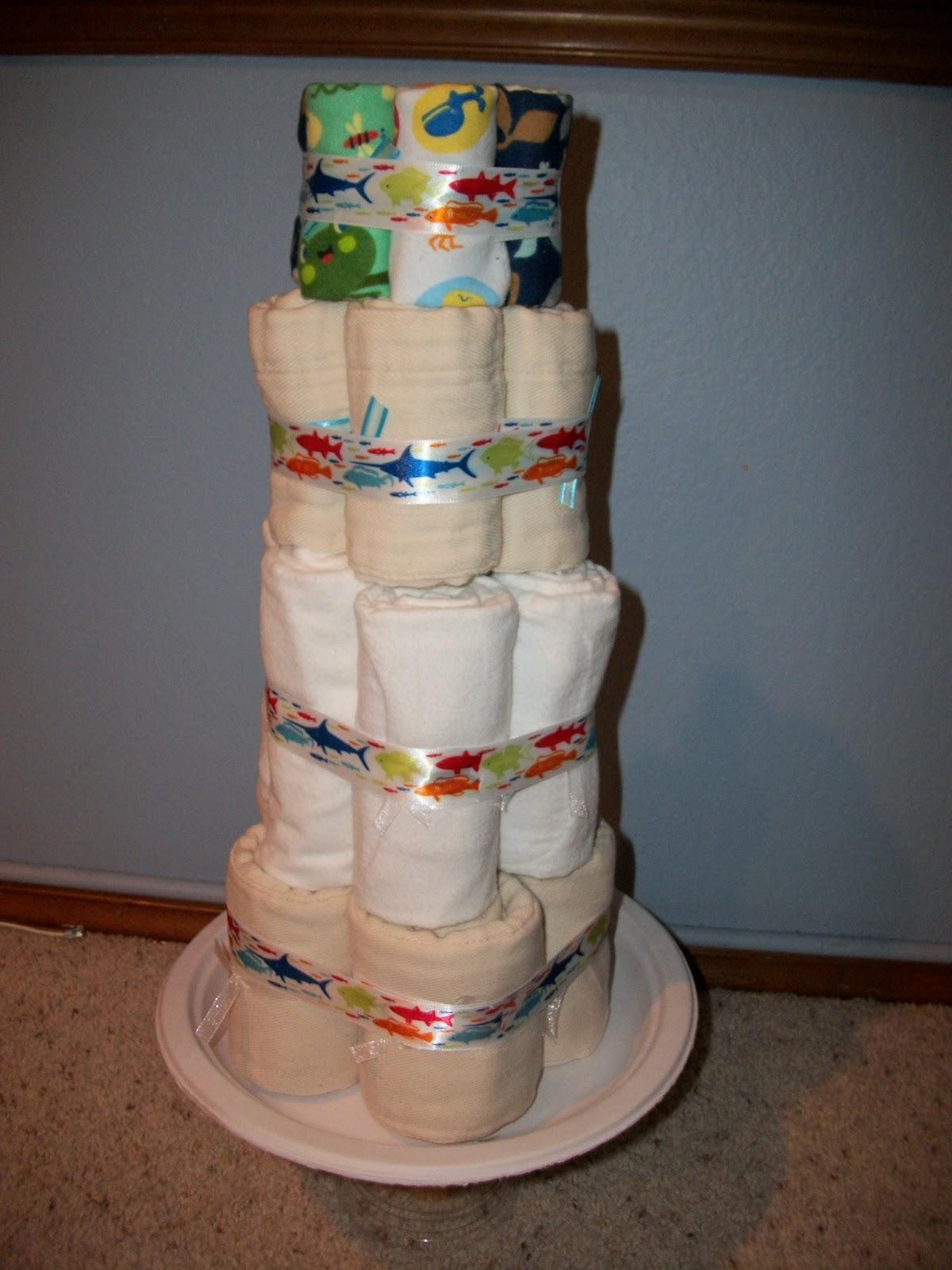 Simple Diaper Sewing Tutorials Cloth Diaper Cake 4
