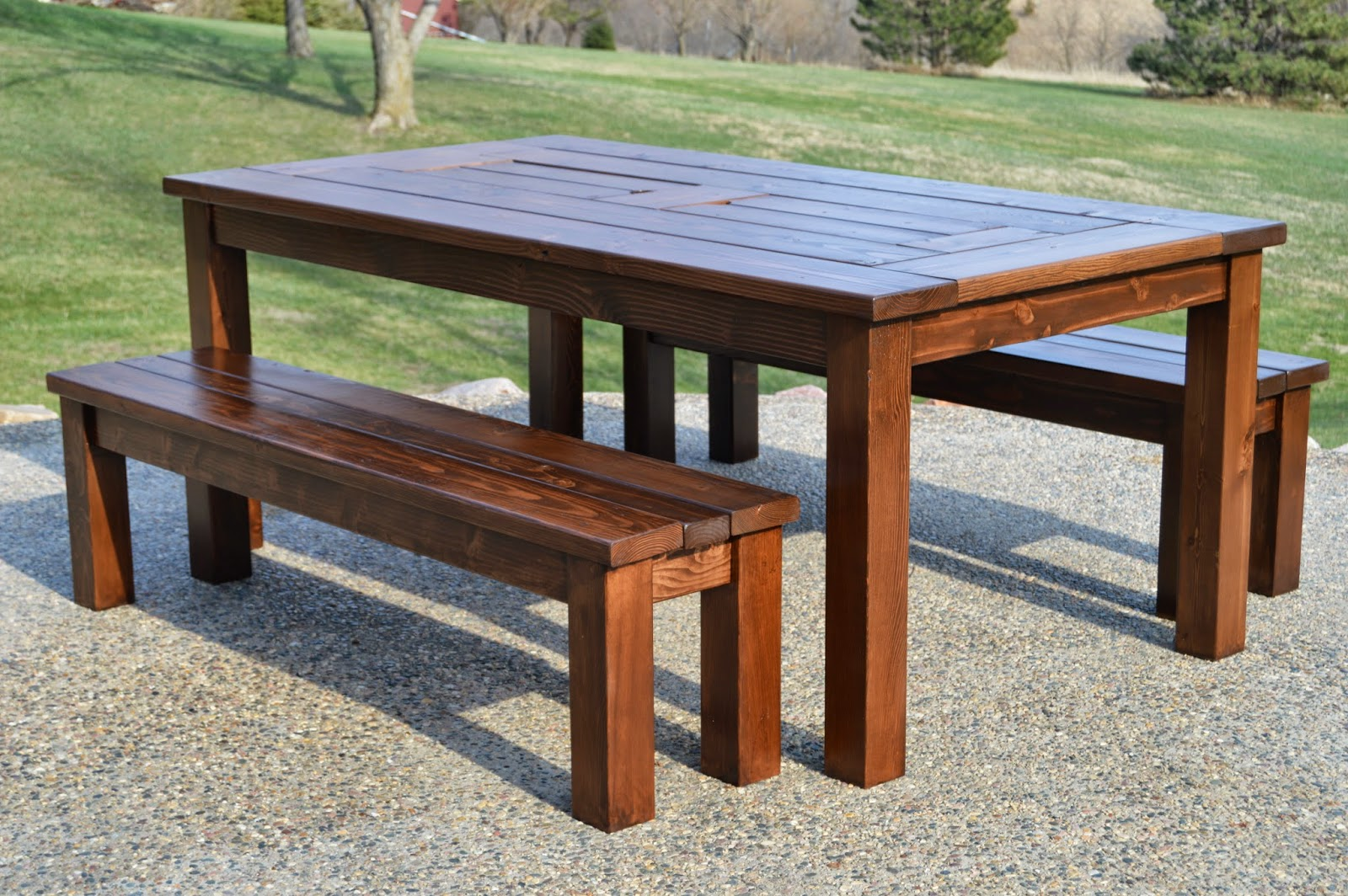 Porch Table Kruse 39s Workshop Step By Step Patio Table Plans With