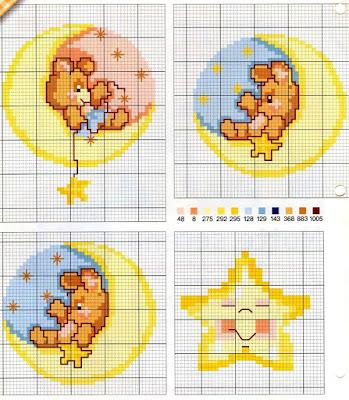 Grande raccolta di schemi e grafici per punto croce free for Angioletti punto croce per bambini